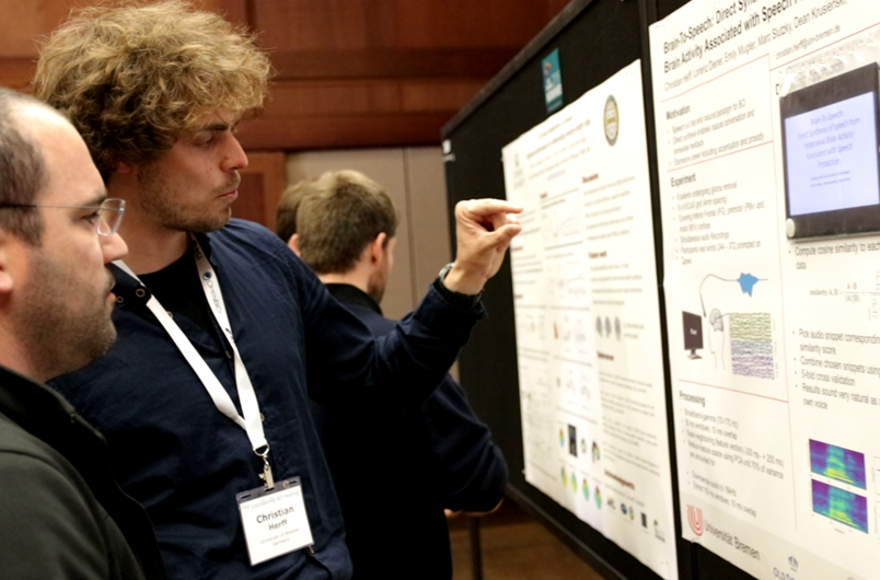 Christian Herff presenting his BCI Award 2018 submission at the BCI Conference 2018 in Asilomar