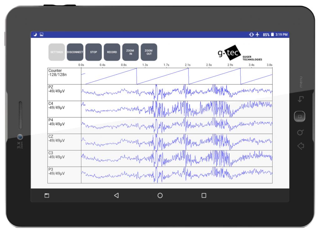 g.Nautilus for Android EEG recording brain signals