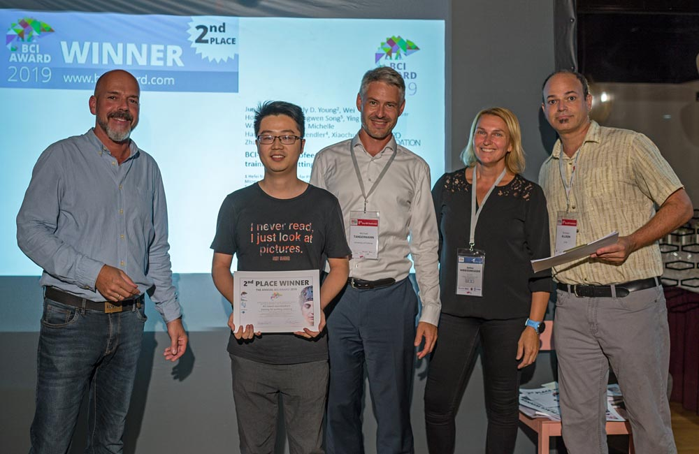 BCI Award Winner: Junjie Bu won prize for a BCI-based neurofeedback training for quitting smoking