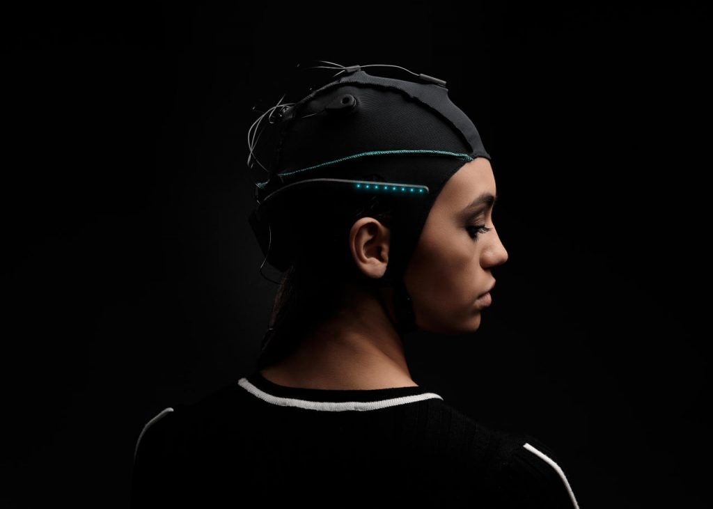 unicorn hybrid black wearable eeg headset for bci applications